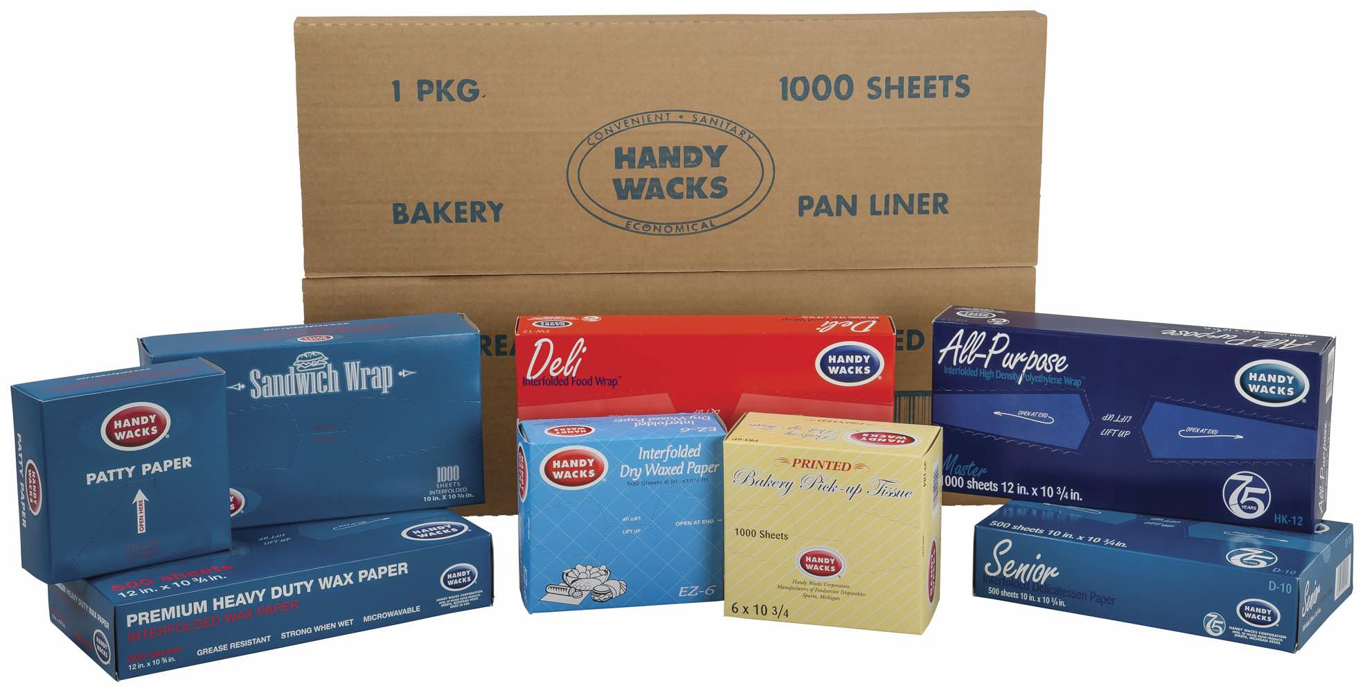 handy wacks wax paper products